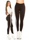 Черные брюки с лампасами KouCla (108091) - 4, 10
