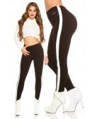 Черные брюки с лампасами KouCla (108091) - foto