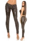 Брюки-джинсы с имитацией кожи KouCla (108100) - материал, 6