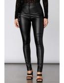Кожаные брюки высокой посадки X8106 (108106) - материал, 6
