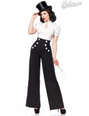 Широкие брюки с карманами и высоким поясом (108061) - foto