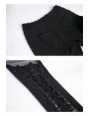 Брюки-ботфорты со шнуровкой и сеточкой DL115 (108115) - 8, 18