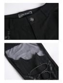 Брюки-ботфорты со шнуровкой и сеточкой DL115 (108115) - 7, 16