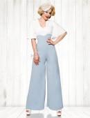 Широкие брюки в стиле Марлен (108059) - foto