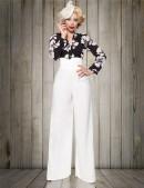 Белые широкие женские брюки Belsira (108060) - foto