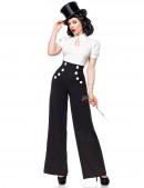 Широкие брюки с карманами и высоким поясом (108061) - 3, 8