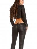 Джинсы под кожу со шнуровкой сзади (108064) - оригинальная одежда, 2