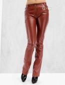 Кожаные брюки на флисе (108048) - цена, 4