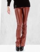 Кожаные брюки на флисе (108048) - foto