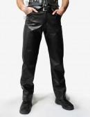 Мужские кожаные брюки (207003) - foto