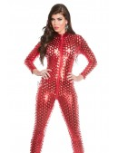 Красный кэтсьюит с чешуйками KouCla (126205) - оригинальная одежда, 2