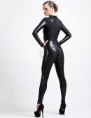 Черный кожаный кэтсьюит (126122) - foto