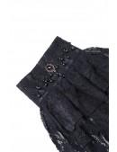 Черное жабо с камнями и бисером XA16 (702016) - оригинальная одежда, 2