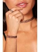 Ожерелье-чокер с браслетом и кольцом XJ7002 (717002) - цена, 4
