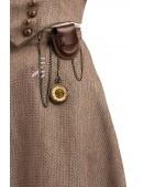 Юбка Steampunk с навесным карманом и часами X7202 (107202) - оригинальная одежда, 2