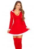 Красное новогоднее платье KC7174 (127174) - материал, 6