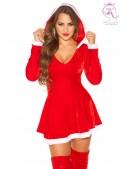 Красное новогоднее платье KC7174 (127174) - foto