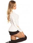 Белая водолазка-свитер KouCla (111214) - цена, 4