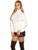 Белая водолазка-свитер KouCla (111214) - 3, 8