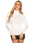 Белая водолазка-свитер KouCla (111214) - foto