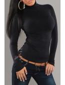 Женская черная водолазка KouCla (141004) - цена, 4