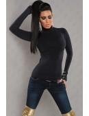 Женская черная водолазка KouCla (141004) - foto