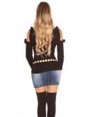 Водолазка-свитер с открытыми плечами (141012) - 4, 10