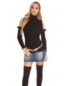 Водолазка-свитер с открытыми плечами (141012) - 3, 8