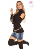 Водолазка-свитер с открытыми плечами (141012) - foto