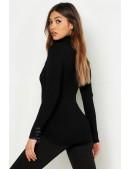 Черная водолазка-свитер X1017 (141017) - оригинальная одежда, 2