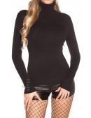 Черная водолазка-свитер X1017 (141017) - цена, 4