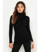 Черная водолазка-свитер X1017 (141017) - foto