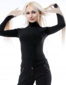 Черная водолазка женская 101107 (101107) - оригинальная одежда, 2