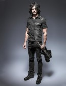 Мужская джинсовая рубашка (202006) - материал, 6
