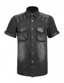 Мужская джинсовая рубашка (202006) - 6, 14