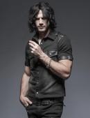 Мужская джинсовая рубашка (202006) - foto