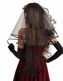 Черная фата с розами Xstyle accessories (504217) - оригинальная одежда, 2