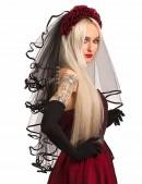 Черная фата с розами Xstyle accessories (504217) - foto
