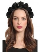 Обруч с черными розами XA4204 (504204) - оригинальная одежда, 2