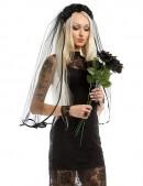 Обруч с черными розами и фатой (504210) - цена, 4