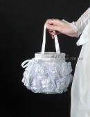 Белая сумочка с розами (ручная работа) (301025) - foto