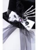 "Женская шляпа ""Рука скелета"" XA143 (501143) - цена, 4"