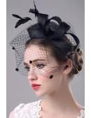 Шляпка с вуалью Artistic (502013) - оригинальная одежда, 2