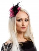 Розовая шляпка с перьями X-Style (502059) - foto