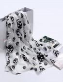 Шифоновый шарф с черепами (714528) - foto
