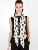 Шифоновый шарф с черепами (714528) - оригинальная одежда, 2