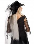Широкополая черная шляпа с фатой (502056) - цена, 4