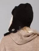 Вязаная шапка-ушанка женская (502038) (502038) - оригинальная одежда, 2