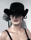 Женская шляпа из бархата (502055) - 3, 8