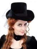 Женская шляпа из бархата (502055) - foto